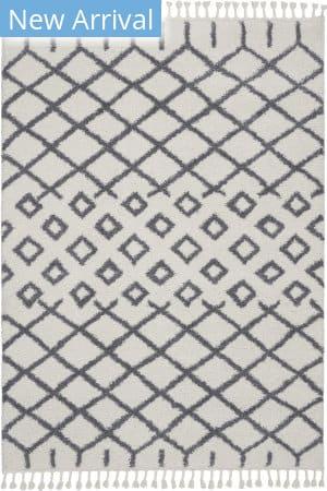 Nourison Moroccan Shag Mrs01 White Area Rug