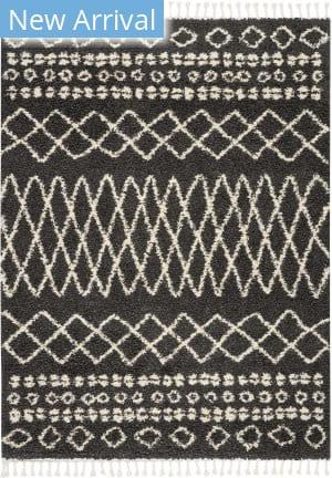 Nourison Marrakesh Shag Mrk02 Charcoal Area Rug