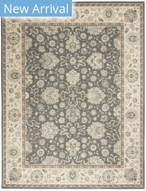 Nourison Living Treasures Li16 Ivory - Aqua Area Rug
