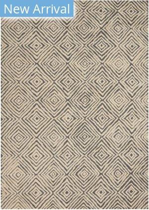 Nourison Modern Deco Mdc01 Grey - Ivory Area Rug