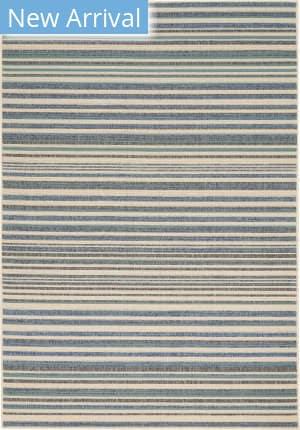 Nourison Lido Lid01 Blue - Cream Area Rug
