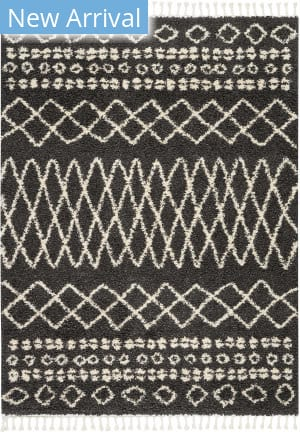 Nourison Moroccan Shag Mrs02 Charcoal Area Rug