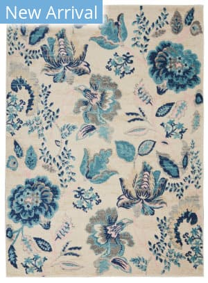 Nourison Tranquil Tra02 Ivory - Light Blue Area Rug