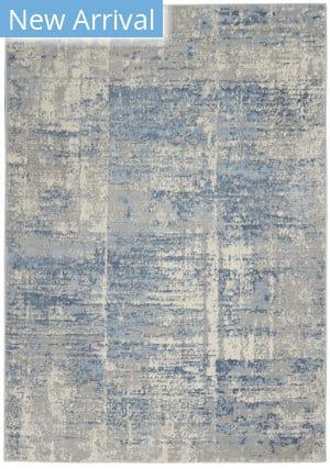Nourison Solace Sla02 Ivory - Grey - Blue Area Rug