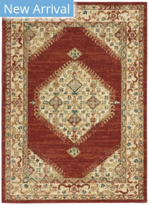 Nourison Traditional Antique Trq03 Red Area Rug