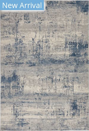 Nourison Rustic Textures Rus10 Ivory - Blue Area Rug