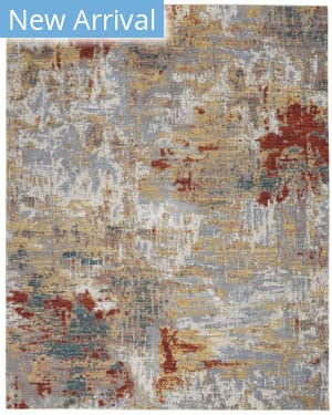 Nourison Artworks Atw03 Silver - Grey - Yellow Area Rug