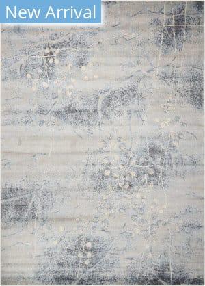 Nourison Somerset St74 Silver - Blue Area Rug