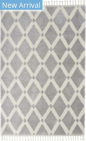 Nourison Serenity Shag Srs01 Grey - Ivory Area Rug