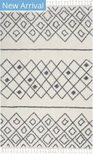 Nourison Serenity Shag Srs02 Ivory - Slate Area Rug