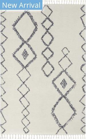 Nourison Serenity Shag Srs03 Ivory - Slate Area Rug