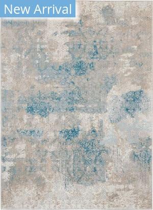 Nourison Karma Krm07 Ivory - Light Blue Area Rug