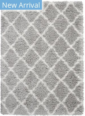 Nourison Luxe Shag Lxs02 Grey - Ivory Area Rug