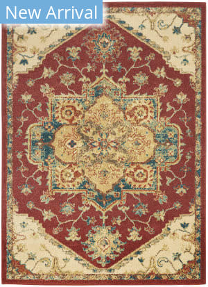 Nourison Traditional Antique Trq01 Red Area Rug