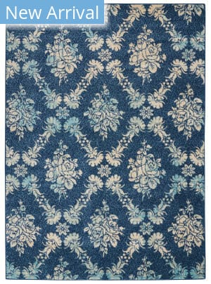 Nourison Tranquil Tra09 Navy - Light Blue Area Rug