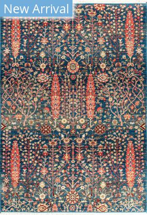 Famous Maker Dasilva Gabbeh Blue Area Rug