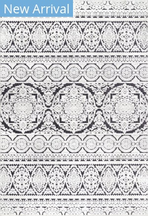 Famous Maker Contemporary Jeannie Black & White Area Rug