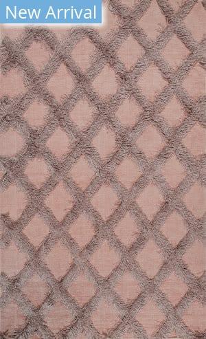 Famous Maker Francene Diamond Pink Area Rug