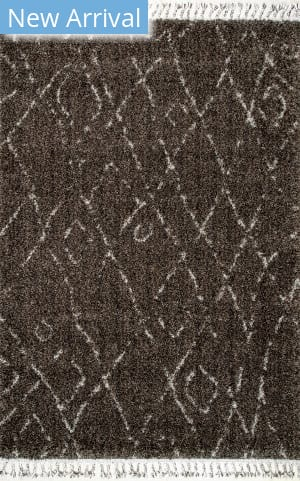 Nuloom Nieves Moroccan Diamond Brown Area Rug