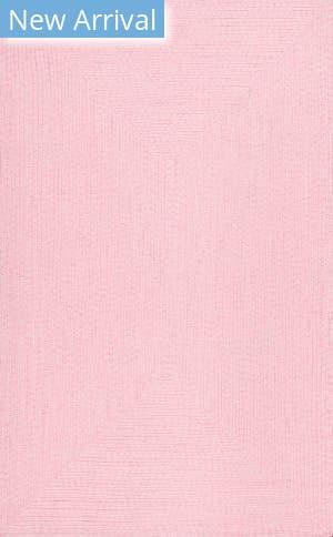 Famous Maker Braided Lefebvre Pink Area Rug