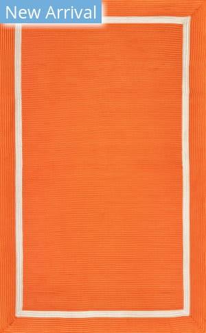 Famous Maker Braided Gwenyth Orange Area Rug