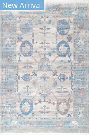 Nuloom Connie Vintage Floral Light Blue Area Rug