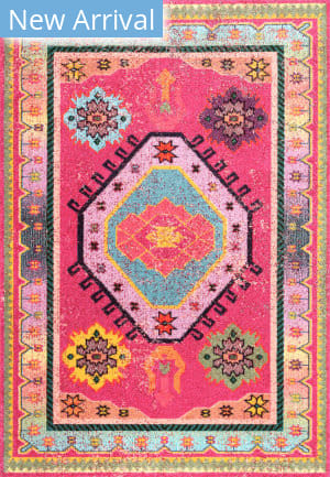 Famous Maker Bohemian Christie Pink Area Rug