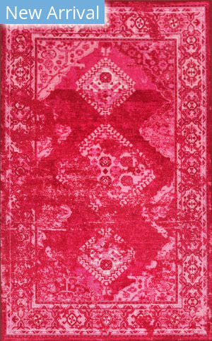 Nuloom Lavonna Distressed Tribal Pink Area Rug