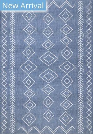 Famous Maker Serna Outdoor Blue Area Rug