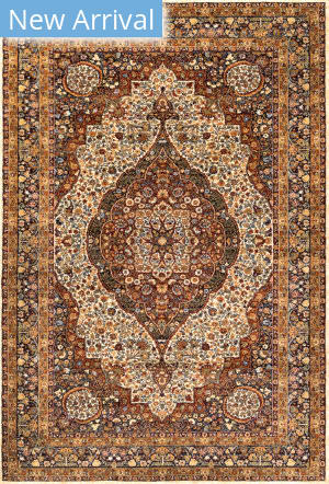 Nuloom Diane Medallion Brown Area Rug