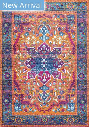 Famous Maker Persian Velva Orange Area Rug