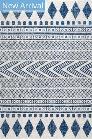 Famous Maker Shaina Tribal Blue Area Rug