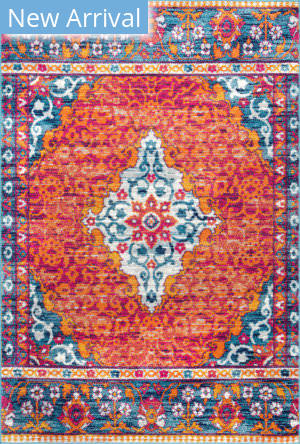 Nuloom Naomi Medallion Orange Area Rug