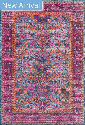 Famous Maker Persian Yoshie Pink Area Rug