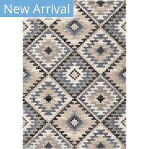 Orian Plush Shag Modern Diamonds Muted Blue Area Rug