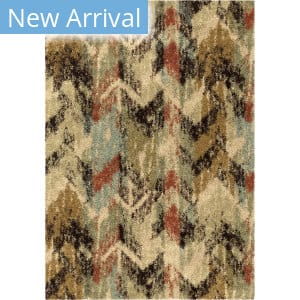 Orian Wild Weave Distressed Chevron Multi Bisque Area Rug