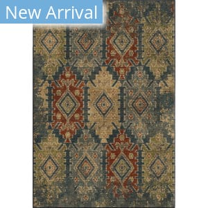 Orian Voyage Distressed Borego Medallion Indigo Area Rug