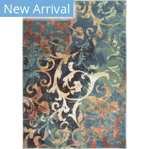 Orian Spoleto Watercolor Scroll Multi Area Rug