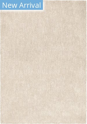 Orian Super Shag Solid Cream Area Rug
