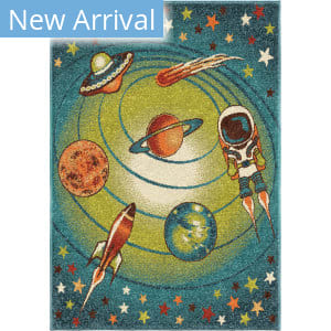 Orian Kids Court Galaxy Blue Area Rug