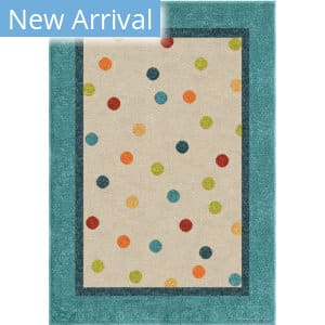 Orian Kids Court Polka Teal Area Rug