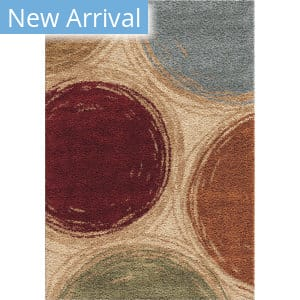 Orian Impressions Shag Sketching Circles Multi Area Rug
