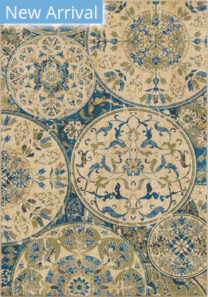 Orian Mardi Gras Ceramic Layers Light Blue Area Rug