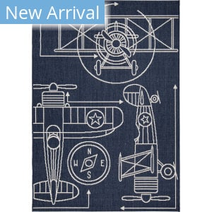 Orian Cottage Kids Flying High Blue Area Rug