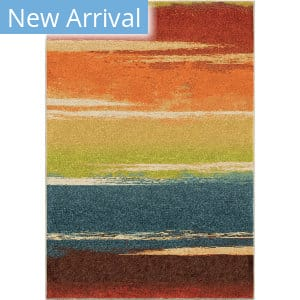Orian Spoleto Brushed Stripe Multi Area Rug