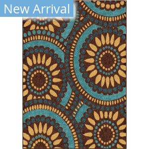 Orian Veranda Merrifield Collage Yellow Area Rug