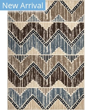 Orian Farmhouse Mazara Blue Multi Area Rug