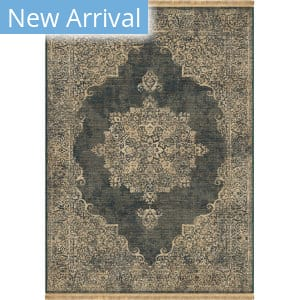 Orian Marrakesh Lace Kirman Denim Area Rug