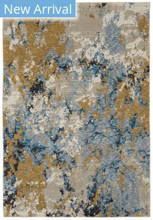 Oriental Weavers Evolution 0980A Blue - Gold Area Rug