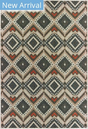 Oriental Weavers Latitude 002x3 Grey - Orange Area Rug